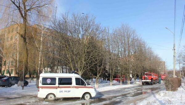 Автомобили экстренных служб на месте терракта. 8 февраля 2017 года.