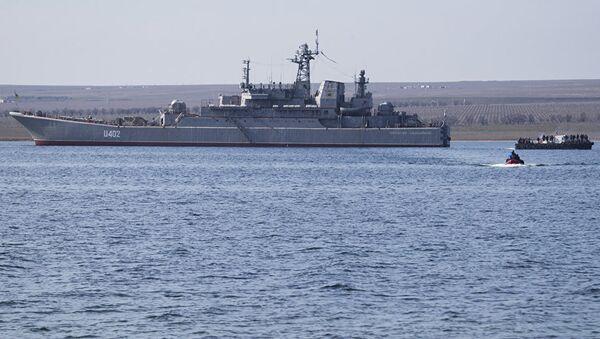 Корабль Константин Ольшанский в Донузлаве. Архивное фото