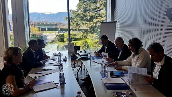 Делегация КФС принимает участие в совещании, которое проходит в штаб-квартире УЕФА в Ньоне (Швейцария)