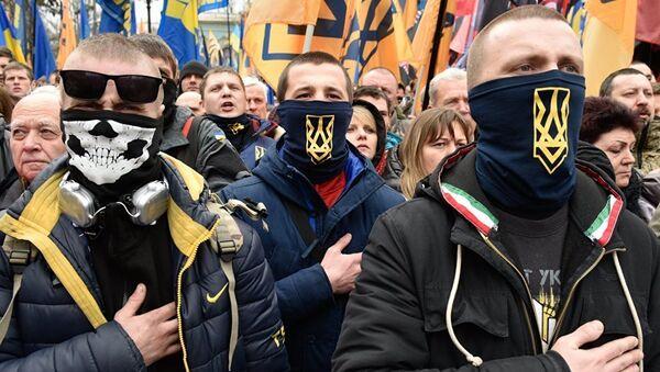 Митинг в центре Киева. Март 2017 года
