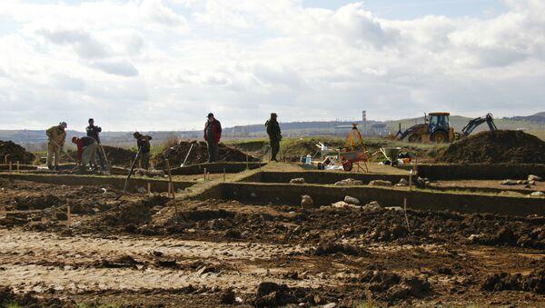 Раскопки в Керчи