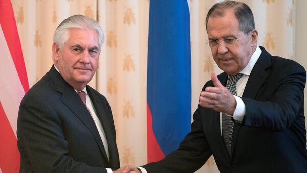 Переговоры министра иностранных дел РФ С. Лаврова и госсекретаря США Р. Тиллерсона