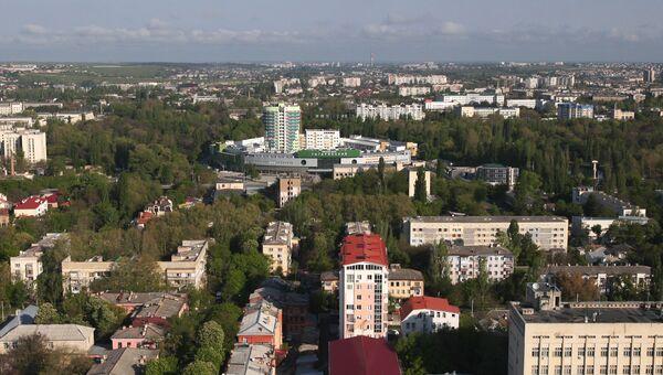 Вид с вертолета на парк им. Гагарина в Симферополе. Архивное фото