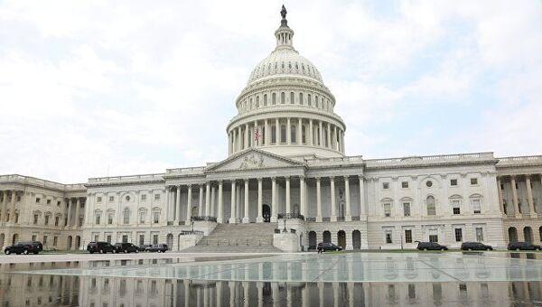 Местопребывание Конгресса США на Капитолийском холме в Вашингтоне, США. Архивное фото