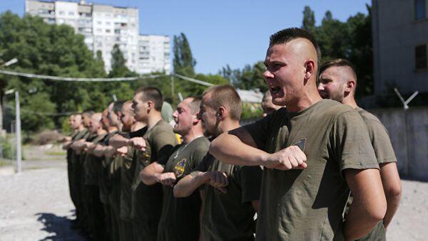 Тренировка бойцов батальона Азов