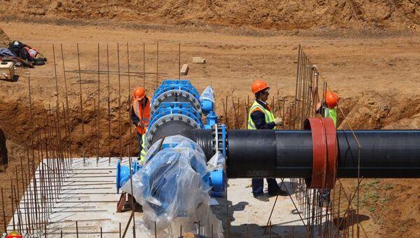 Строительство в рамках ФЦП водовода от Новогригорьевского водозабора в Крыму