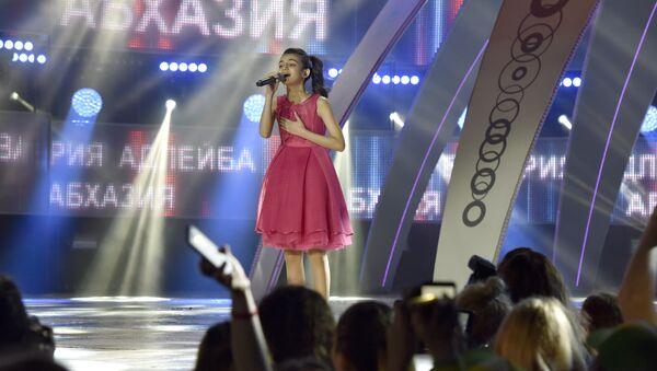 Участница международного конкурса молодых исполнителей популярной музыки Детская Новая волна Валерия Адлейба (Абхазия)