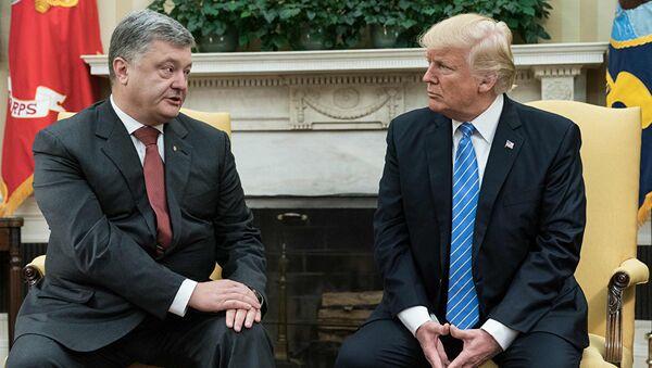 Встреча президента США Дональда Трампа и президента Украины Петра Порошенко в Белом доме