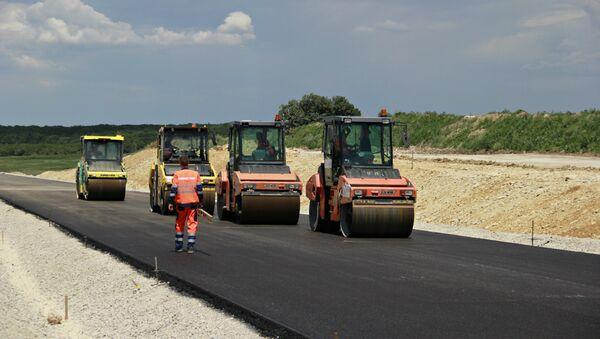 Строительство дороги Дубки-Левадки под Симферополем