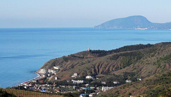 Вид на поселок Рыбачье в Алуштинском регионе