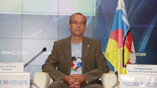 Организатор автопробега Берлин - Москва, руководитель некоммерческой общественной организации Druschba Global Райнер Ротфусс