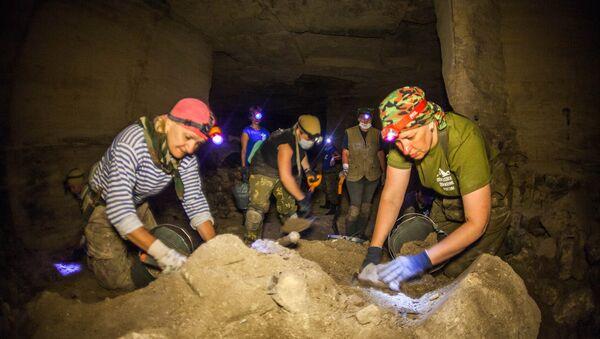 Работа военно-исторической экспедиции Аджимушкай в Керчи