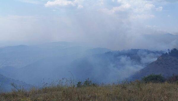 Лесной пожар в районе села Громовка под Судаком