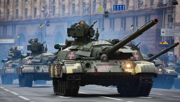 Военная техника на параде по случаю 25-летней годовщины со Дня Независимости Украины