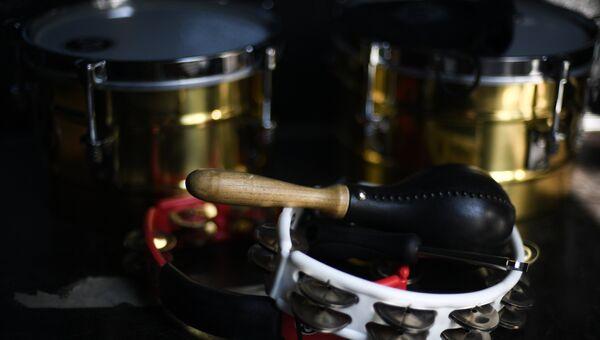 Музыкальные инструменты участников фестиваля Koktebel Jazz Party 2017.