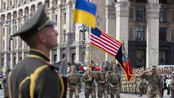 Военнослужащие стран НАТО на параде в честь Дня независимости в Киеве