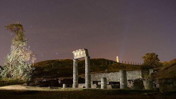 Развалины древнегреческого города Пантикапеи на горе Митридат в Керчи