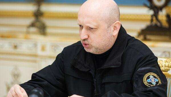 Бывший секретарь Совета национальной безопасности и обороны (СНБО) Украины Александр Турчинов. Архивное фото