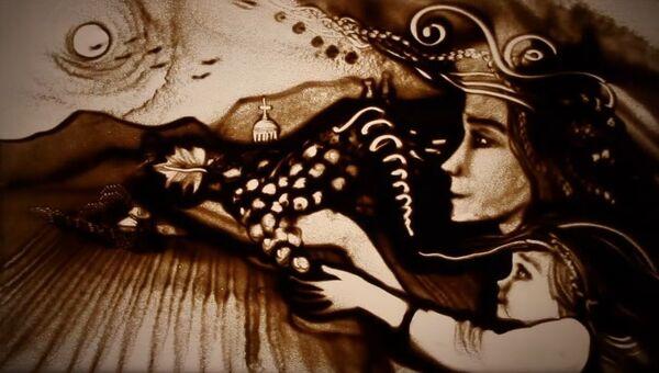 Песочная анимации Ксении Симоновой Муру по имени Крым