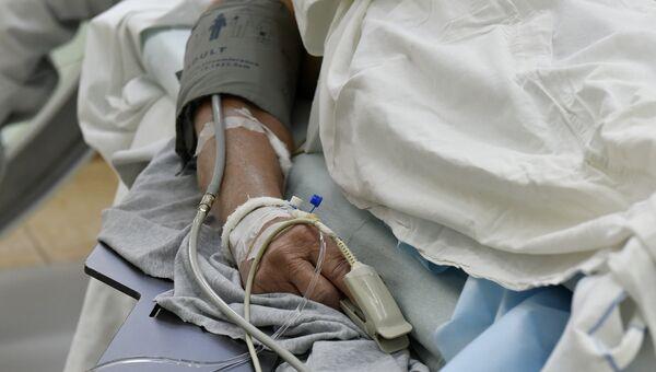 Пациент во время операции на сердце в Республиканской клинической больнице им. Семашко