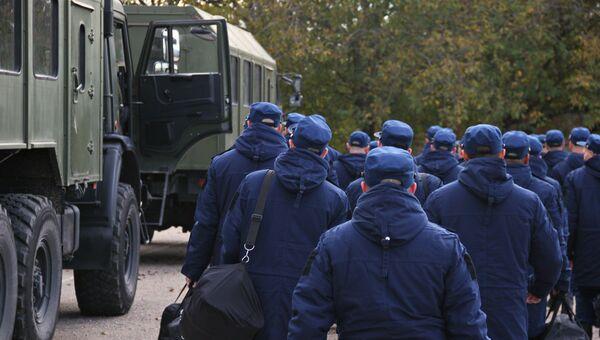 Отправка крымских призывников на службу в Вооруженные силы России