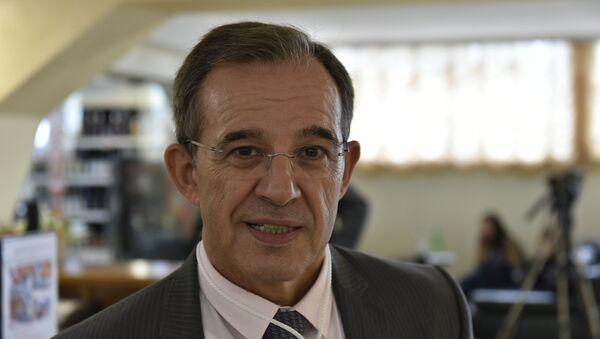 Депутат Национального собрания Франции, глава делегации французских парламентариев Тьерри Мариани на форуме друзей Крыма в Ялте