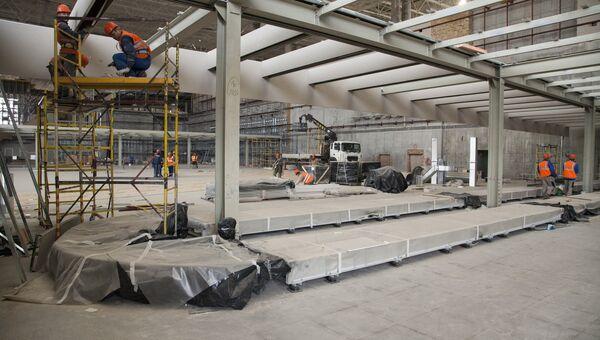 В новом терминале аэропорта Симферополь приступили к монтажу багажной системы обработки багажа