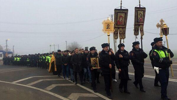 Крестный ход в память о жертвах ДТП на автодороге Темрюк-Краснодар