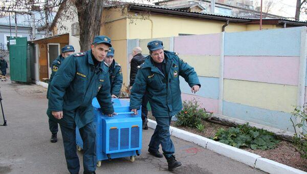 Доставка генератора в детский дом на ул. Зои Жильцовой в Симферополе
