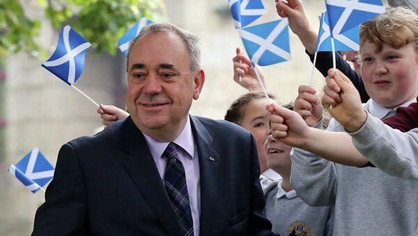 Бывший первый министр Шотландии Алекс Салмонд. Архивное фото