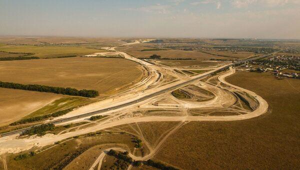 Строительство объездной дороги Дубки-Левадки под Симферополем