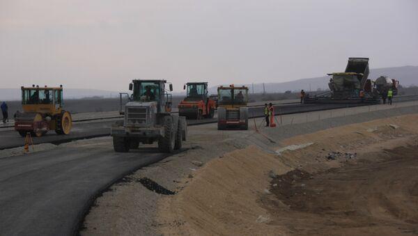 Строительство севастопольской развязки на объездной дорог Дубки - Левадки