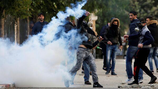 Палестинские протестующие в Вифлееме