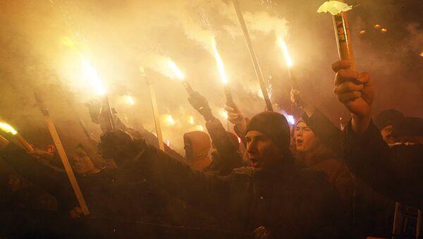 Шествие в Киеве, 1 января 2018