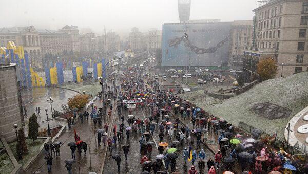 В центре Киева, Украина. Архивное фото