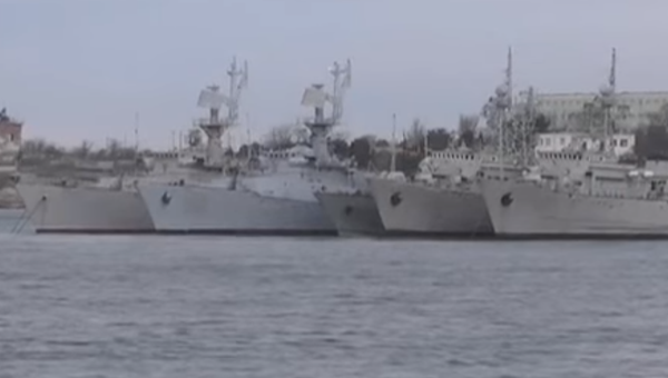 В Сети появилось видео украинских кораблей, которые сейчас находятся в Крыму