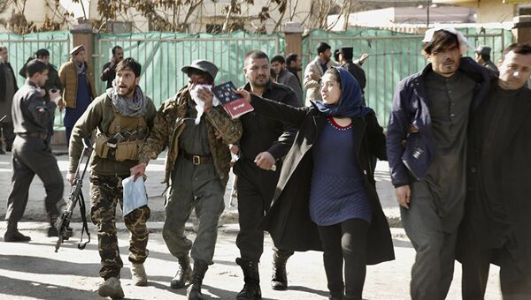 Пострадавшие от взрыва в Кабуле, Афганистан