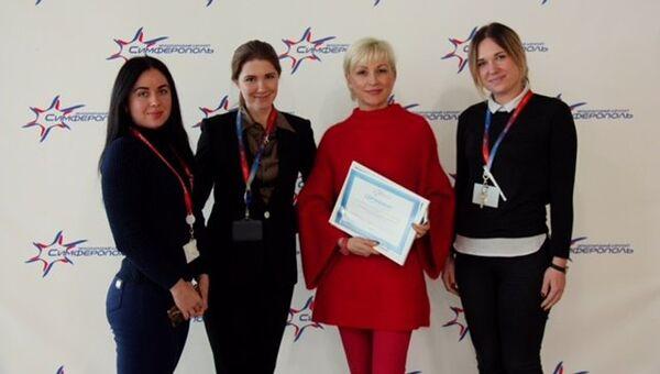 Шеф-редактор радиоэфира Спутник в Крыму Ирина Мульд получила награду за участие в программе Тайный пассажир аэропорта Симферополь