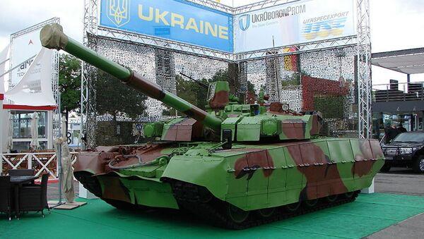 БМ Оплот на выставке вооружений Eurosatory-2012