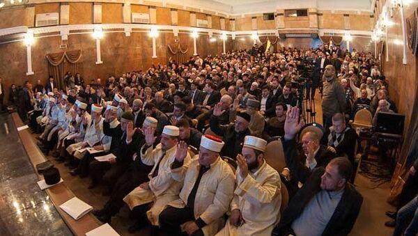 Курултай (съезд) мусульман Крыма в Симферополе. 17 февраля 2018
