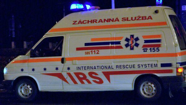 Автомобиль скорой помощи в Словакии. Архивное фото