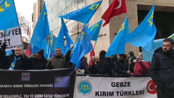 В Стамбуле прошла акция протеста против воссоединения Крыма с Россией