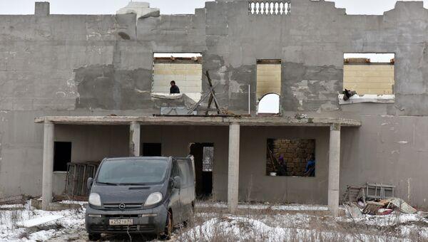 Самострой на самозахвате Стрелковое в Симферополе. Архивное фото