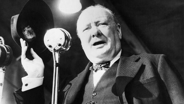 Выступление Уинстона Черчилля в Вестминстерском колледже в Фултоне (США)