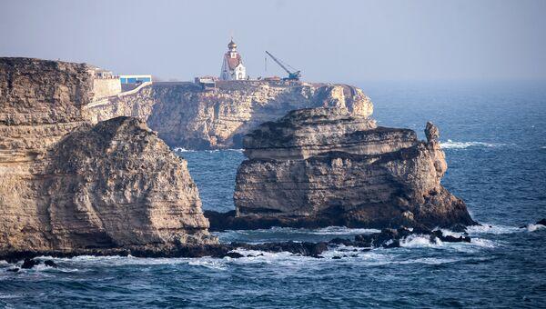 Мыс Тарханкут в Крыму.