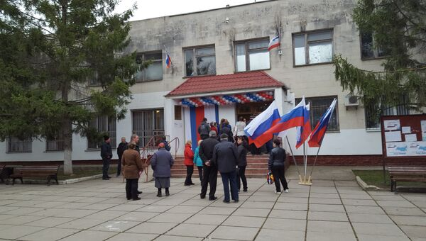 Избирательный участок в Симферополе. 18 марта 2018