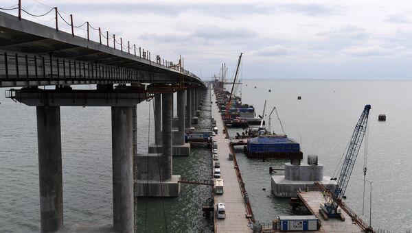 Строительство моста через Керченский пролив со стороны Крыма