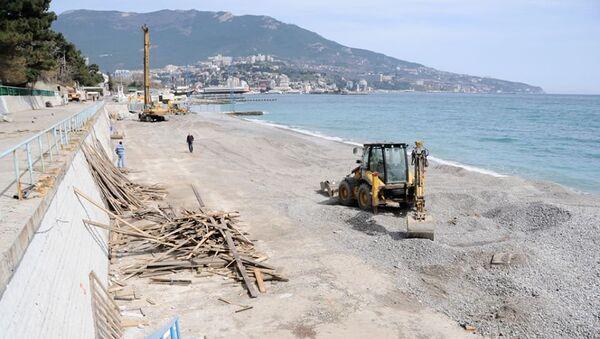 Реконструкция Приморского пляжа в Ялте