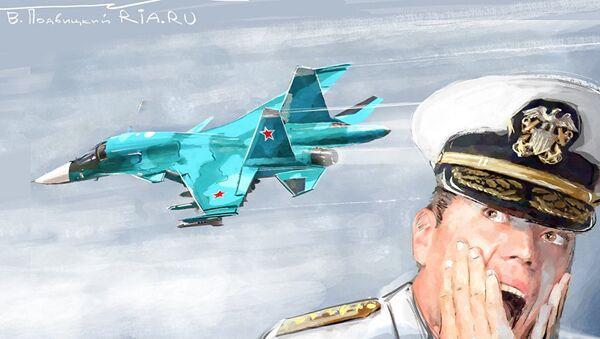 Атака русских самолетов на американский эсминец: фельетон-инсайд
