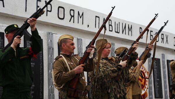 Памятный митинг-реквием в честь освобождения Керченского полуострова от немецко-фашистских захватчиков в селе Батальное Ленинского района